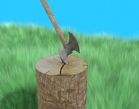 3D handmade ax