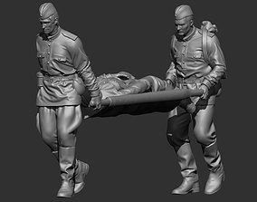 Russian soldiers ww2 3D print model