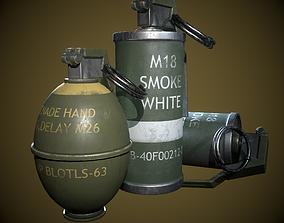 grenade 3D asset game-ready