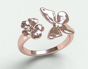 Ringmodel130- Butterfly- flower butterfly