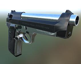 3D model game-ready Baretta 92