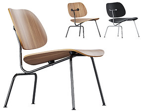 Vitra Plywood Lounge Chair Metal LCM 3D