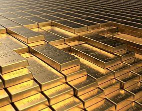 3D model Gold Bar 4 different sizes - PBR