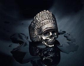 3D printable model Indian skull ring