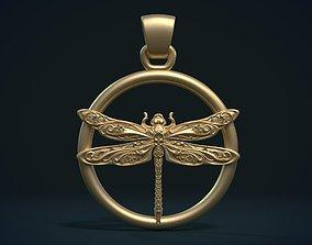 Dragonfly Pendant 3D printable model pattern