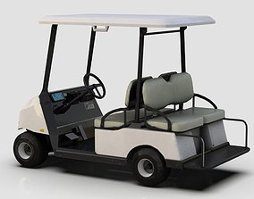 3D asset low-poly Golf Cart