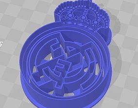 Real Madrid Shield Cookie Cutter 3D printable model 2