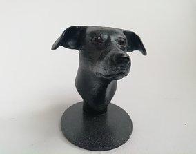 Dog head 3D printable model
