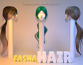 Fasha Hair 3D model character