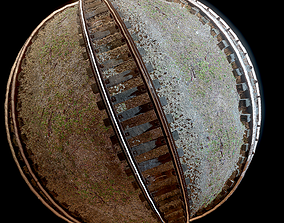 roadway Train Lines PBR Texture 3D