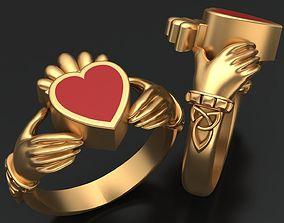 CLADDAGH CELT ENAMEL RING 3D print model