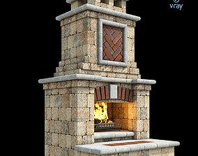 Outdoor Fireplace 009 3D