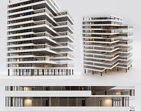 Office building 3D model game-ready office