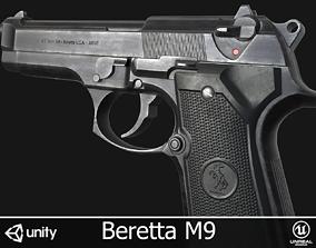 3D model low-poly Beretta M9