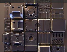 3D Hard Surface Kitbash 01 - Subdiv-Ready