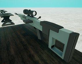 Lowpoly Sniper 3D asset