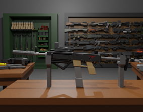 3D model Compact SMG