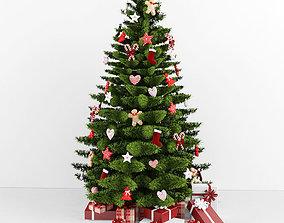 Christmas tree garland 3D