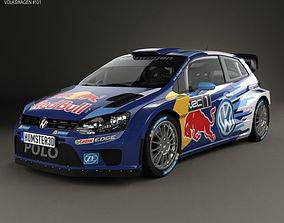 3D Volkswagen Polo R WRC Racecar 2015