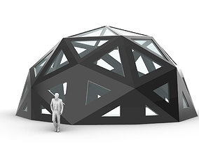 Geodesic Dome with Dynamic Perforations 3D model