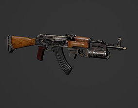 The AKM GP25 - RIGGED ANIMATED WITH SOUNDS 3D asset