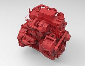Cummins QSB 45 diesel engine 3d model