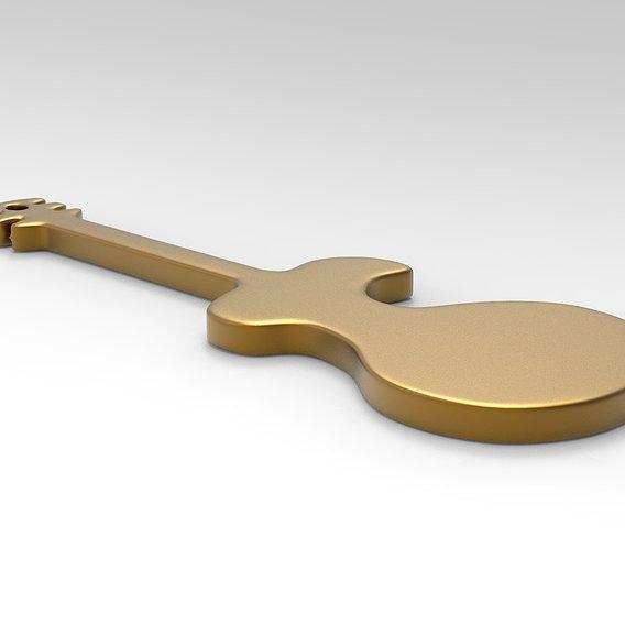 Guitar Keychain model