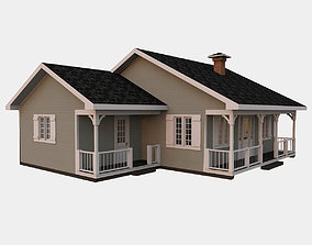 Classical American Woodframe House 3D model