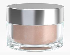 Cosmetics glass jar face hand care cream 3D model