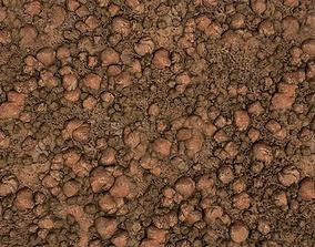 PBR seamless red rocky ground textures 3D asset