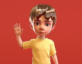 3D asset Cartoon Little Boy