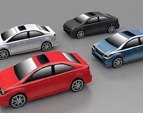 3D asset Lexus Lowpoly Car