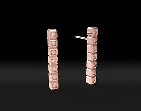 Model 118 Chopard Facet Pave Diamond Earring New Ice Cube