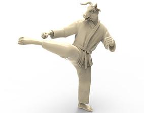 3D printable model Ox Roundhouse Kick