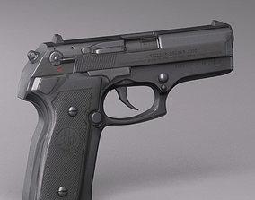 3D model handgun beretta Cougar 8000 Series
