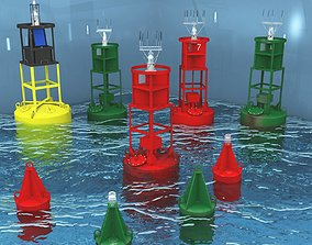 3D Deep Sea And Harbor Buoy Collection