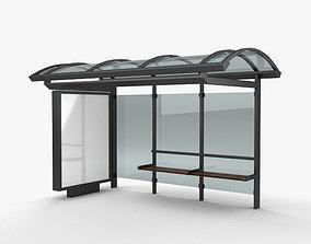 3D model travel Bus Stop
