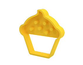 kitchen-dining cake Cookie cutter 3D print model