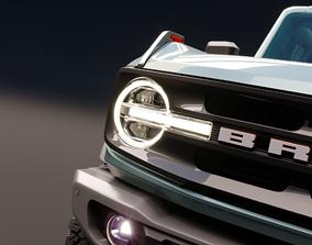 3D model 2021 Ford Bronco 4-door Wildtrak