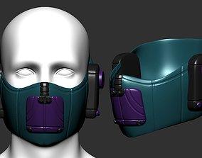 gas mask helmet scifi high poly sculpt ver 2 3d