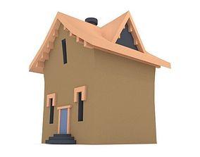 3D asset Village House LOW POLY