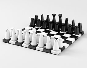 Modern Chess Pieces and Board Parts 3D print model