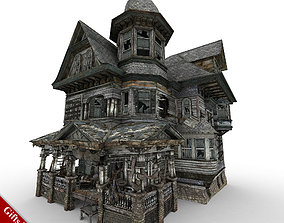 Abandoned House 01 3D asset VR / AR ready
