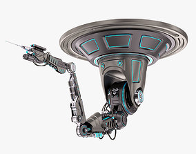 Robotic Arm 02 Ceiling Stylized 3D model