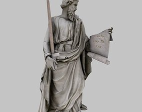 Pavel Statue 3D asset