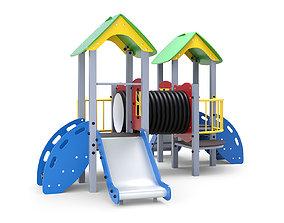 Playground for kids slide 3D