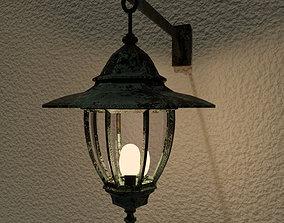 outdoor lamp - exterior outside light - old 3D asset 1