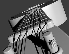 guita acoustic 3D model