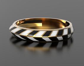 Geometry enamel ring 3D print model jewelry