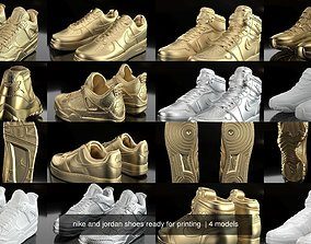 nike and jordan shoes ready for printing 3D